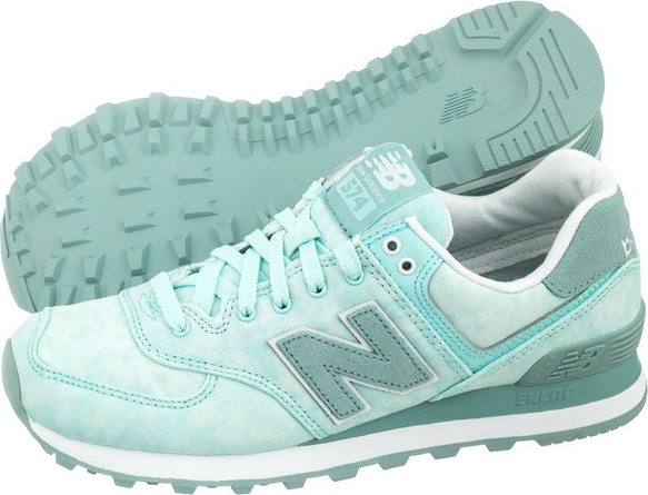 Miętowe buty sportowe new balance