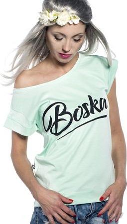 Miętowy t-shirt ŁAP NAS z bawełny z krÓtkim rękawem Odzież Damskie Topy i koszulki damskie FW BOVXFW-8 oferta