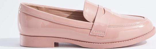 Mohito - lakierowane pantofle - różowy
