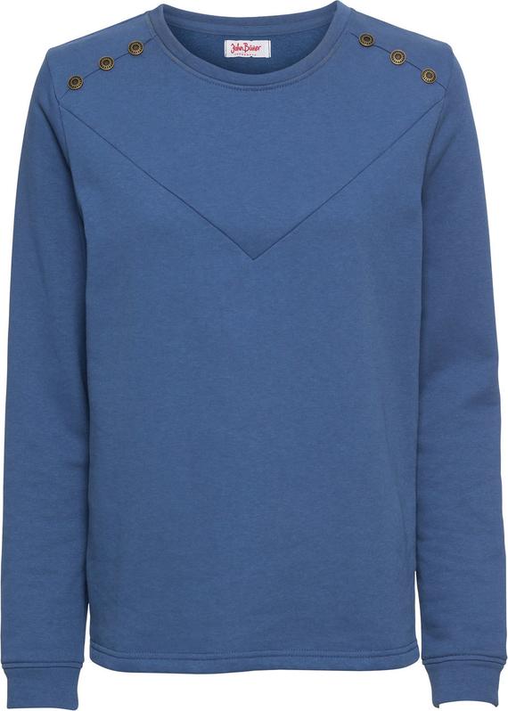 Niebieska bluza bonprix John Baner JEANSWEAR w młodzieżowym stylu krótka