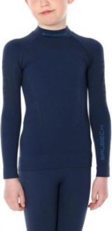Niebieska bluza dziecięca Brubeck z wełny