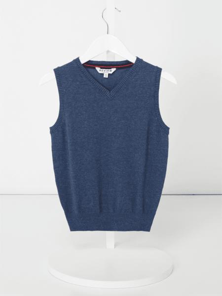 Niebieska bluza dziecięca Review For Kids z bawełny