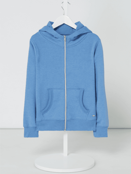 Niebieska bluza dziecięca Review For Teens z bawełny