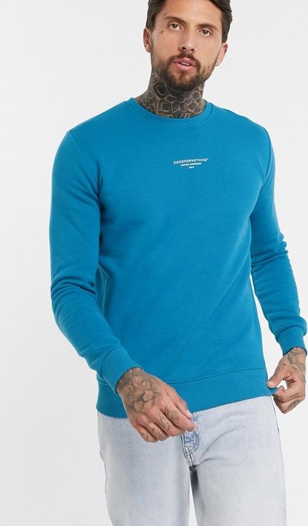 Niebieska bluza Good For Nothing z dresówki