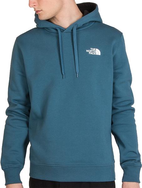 Niebieska bluza The North Face w sportowym stylu z bawełny