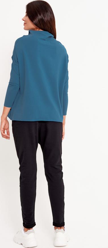 Niebieska bluzka Byinsomnia w stylu casual z długim rękawem