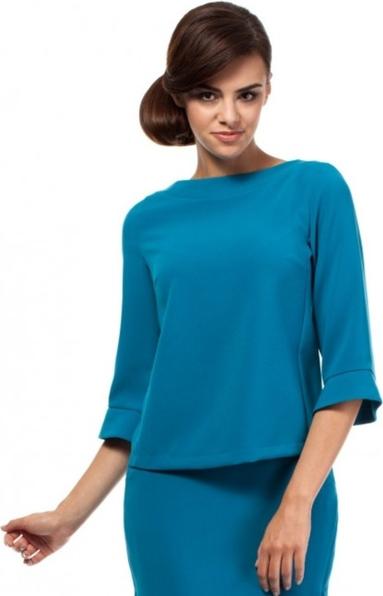 Niebieska bluzka MOE z długim rękawem