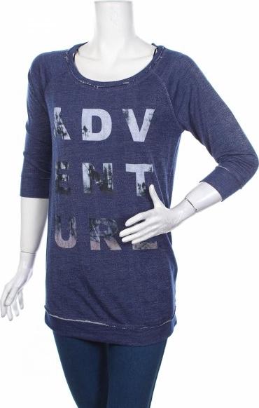 Niebieska bluzka Nappies z długim rękawem w stylu casual