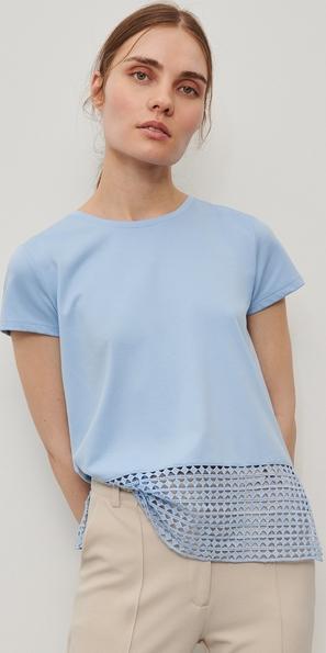 Niebieska bluzka Reserved z krótkim rękawem