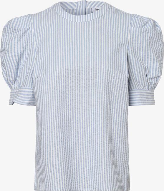 Niebieska bluzka Vero Moda z okrągłym dekoltem