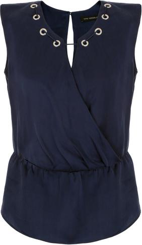 Niebieska bluzka Vitovergelis bez rękawów