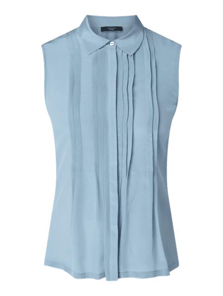 Niebieska bluzka Weekend Max Mara z jedwabiu