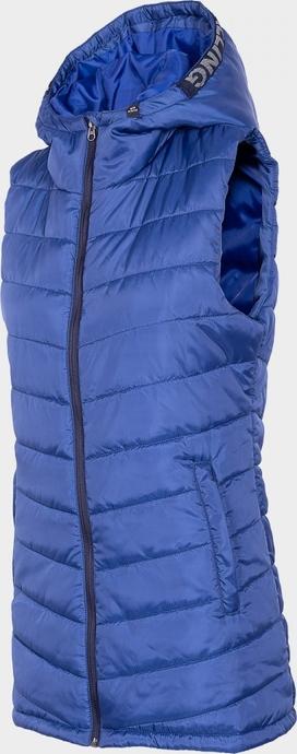 Niebieska kamizelka Everhill długa w stylu casual
