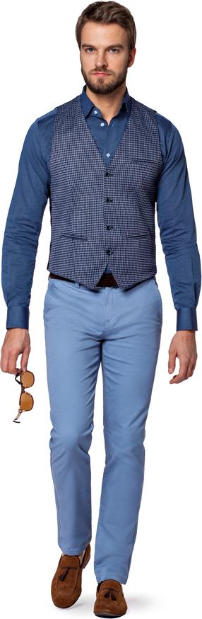 Niebieska kamizelka LANCERTO z tkaniny