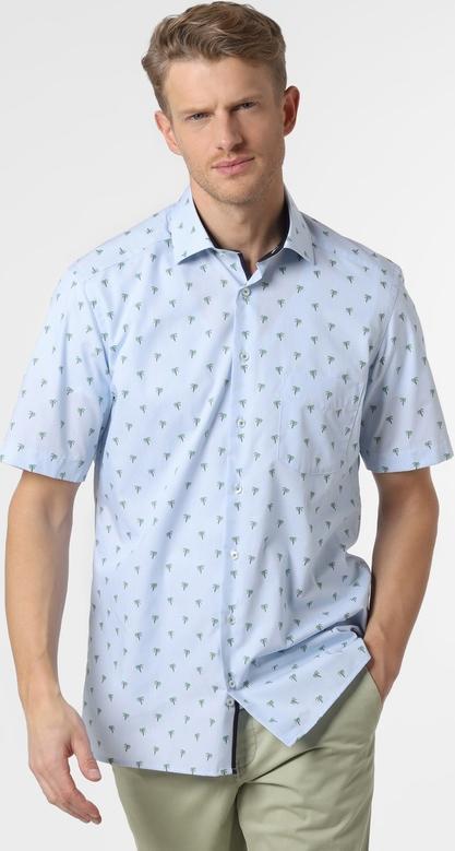 Niebieska koszula Andrew James z krótkim rękawem