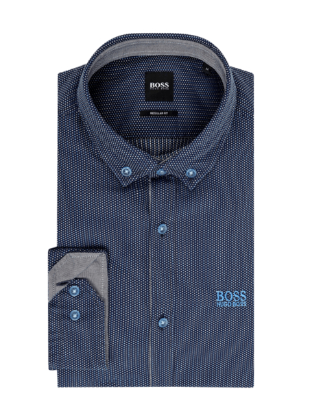 Niebieska koszula Boss Athleisurewear z długim rękawem