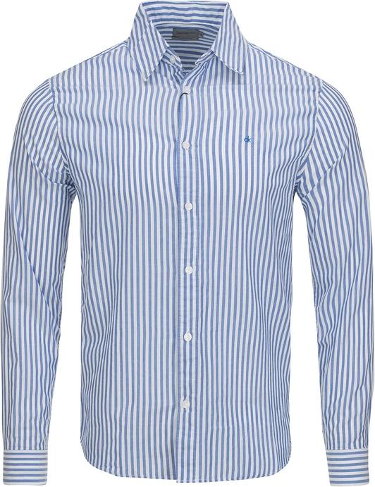Niebieska koszula Calvin Klein w stylu casual z klasycznym kołnierzykiem