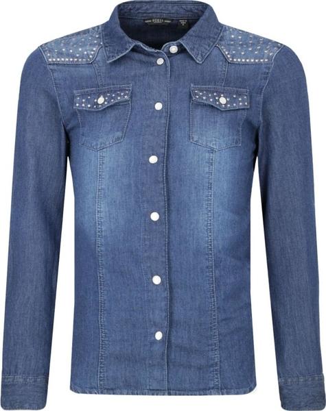 Niebieska koszula dziecięca Guess