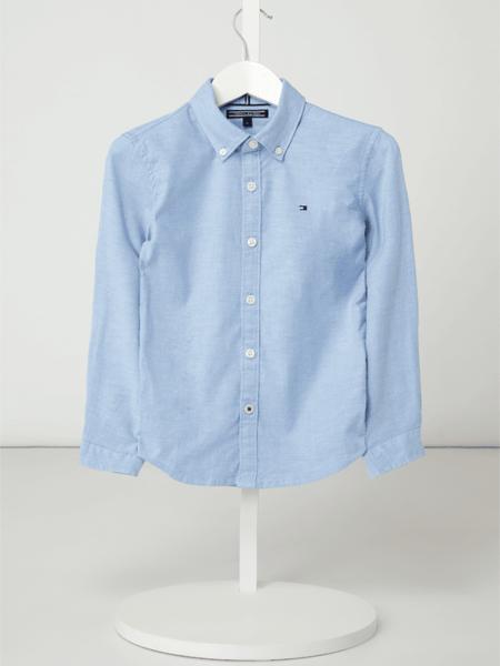 Niebieska koszula dziecięca T. Hilfiger Kids z bawełny