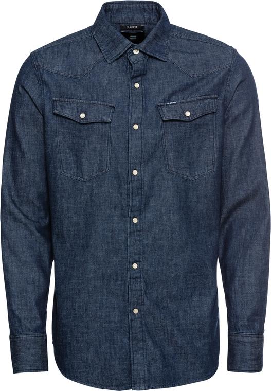 Niebieska koszula G-Star Raw z bawełny z długim rękawem w stylu casual