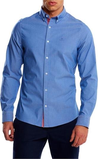 Niebieska koszula Gant z kołnierzykiem button down