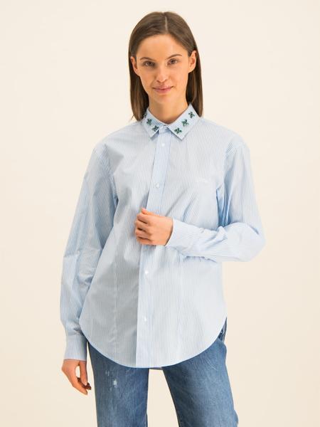 Niebieska koszula Guess z długim rękawem