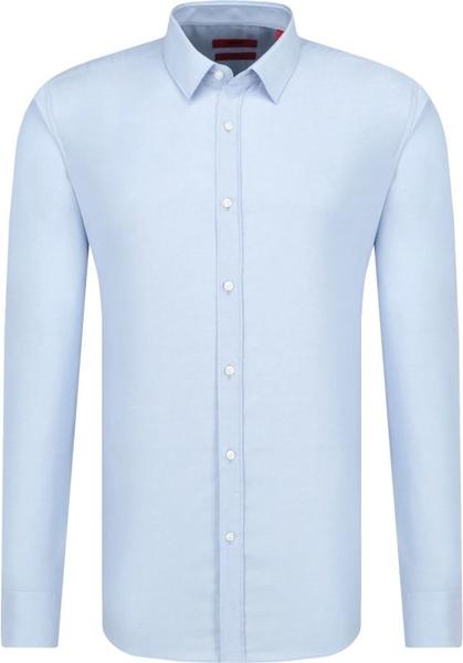 Niebieska koszula Hugo Boss z klasycznym kołnierzykiem z długim rękawem