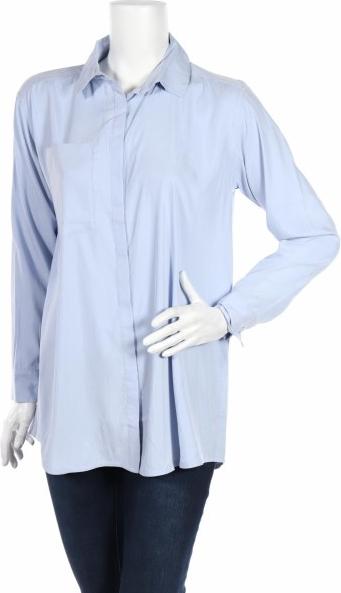 Niebieska koszula Karen by Simonsen z kołnierzykiem z długim rękawem