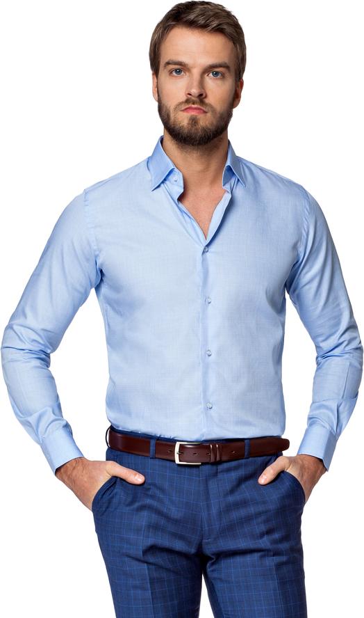Niebieska koszula LANCERTO