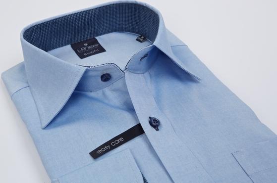 Niebieska koszula Lanieri ze stójką