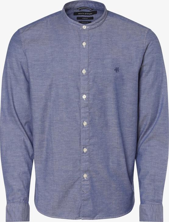 Niebieska koszula Marc O'Polo ze stójką