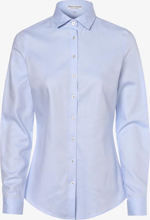 Niebieska koszula Marie Lund z kołnierzykiem
