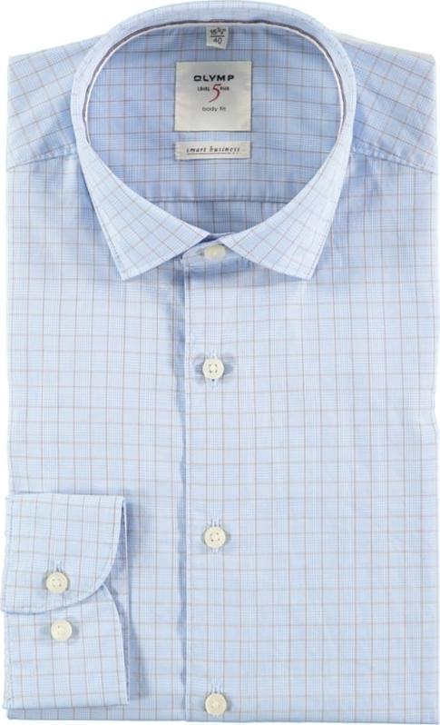 Niebieska koszula Olymp z bawełny