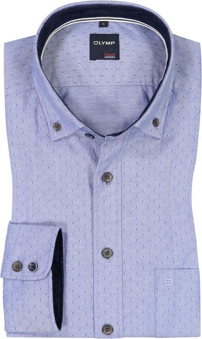 Niebieska koszula Olymp z klasycznym kołnierzykiem