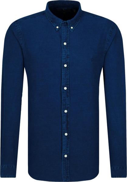Niebieska koszula POLO RALPH LAUREN z długim rękawem z kołnierzykiem button down