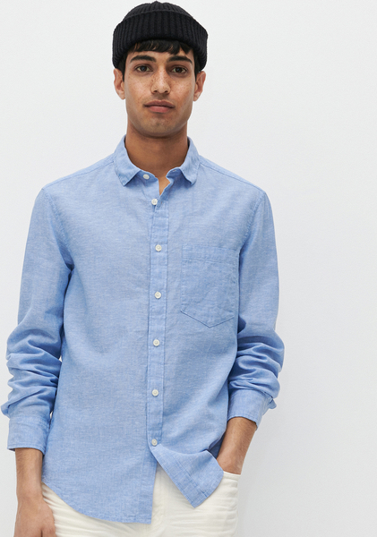 Niebieska koszula Reserved z długim rękawem z klasycznym kołnierzykiem w stylu casual