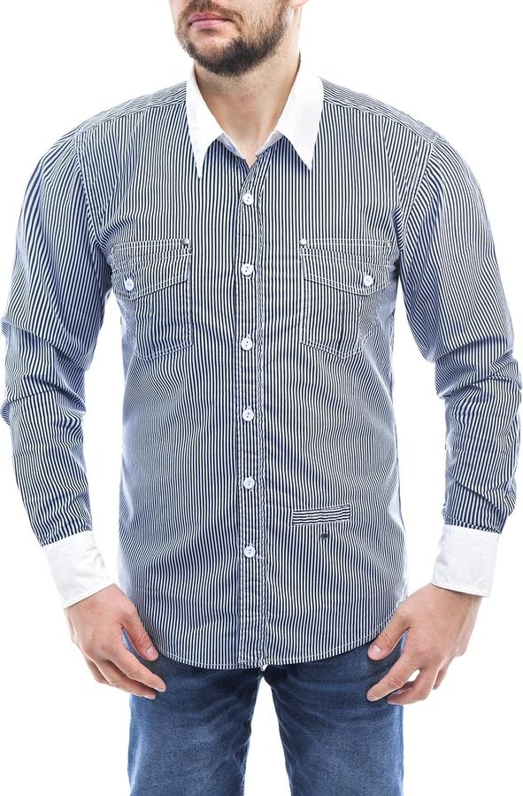 Niebieska koszula Risardi w stylu casual