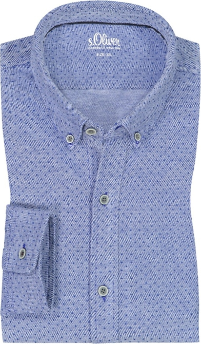 Niebieska koszula S.Oliver z długim rękawem