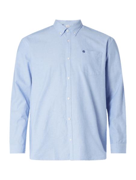 Niebieska koszula Selected Homme z kołnierzykiem button down z długim rękawem