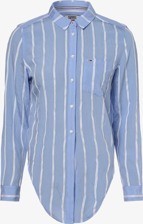 Niebieska koszula Tommy Jeans z kołnierzykiem z długim rękawem