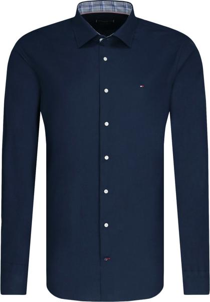 Niebieska koszula Tommy Tailored z długim rękawem w stylu casual z bawełny