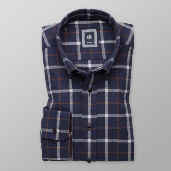 Niebieska koszula Willsoor z klasycznym kołnierzykiem w stylu casual z tkaniny