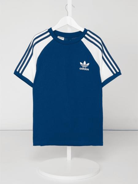 Niebieska koszulka dziecięca Adidas Originals z bawełny