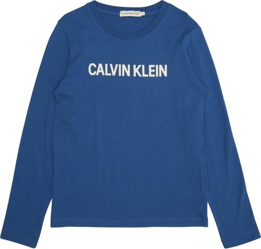 Niebieska koszulka dziecięca Calvin Klein z tkaniny