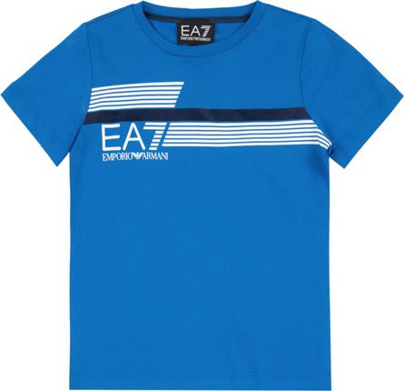 Niebieska koszulka dziecięca Emporio Armani