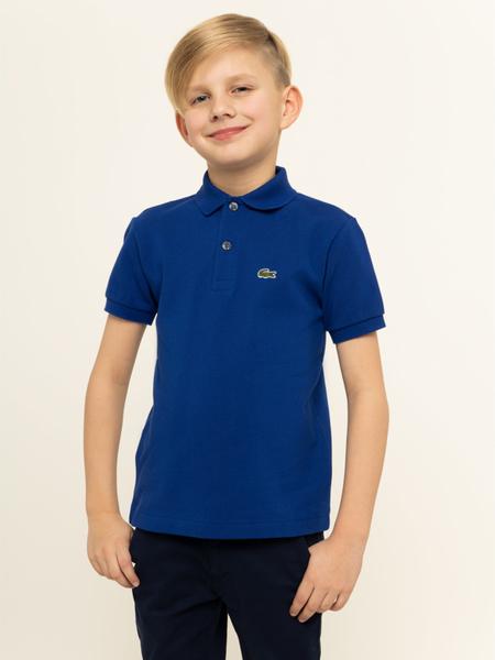 Niebieska koszulka dziecięca Lacoste z krótkim rękawem