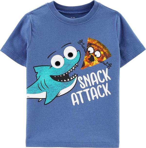 Niebieska koszulka dziecięca OshKosh z bawełny