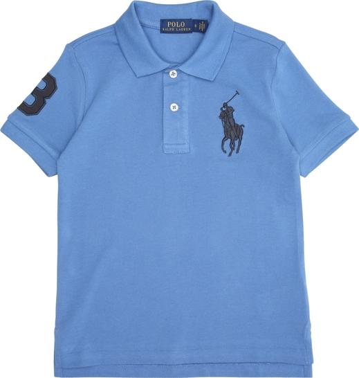 Niebieska koszulka dziecięca POLO RALPH LAUREN z dżerseju