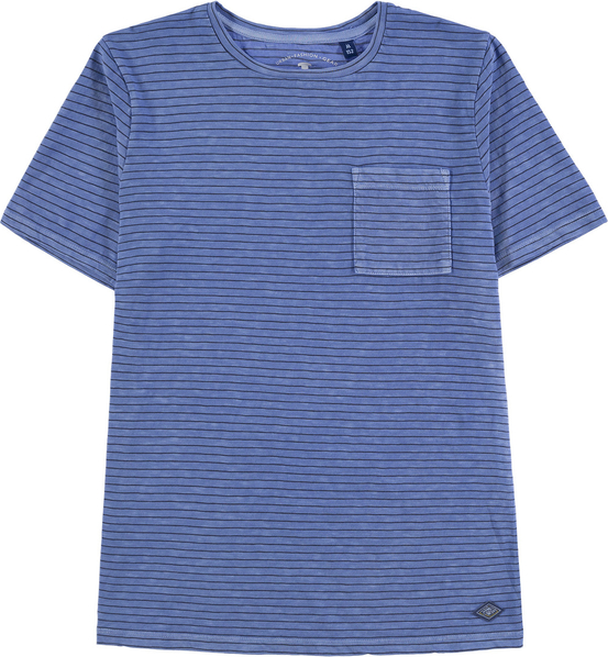 Niebieska koszulka dziecięca Tom Tailor dla chłopców z bawełny z krótkim rękawem