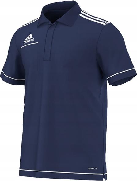 Niebieska koszulka polo Adidas w sportowym stylu